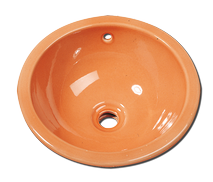 Carrelage - Décoration - Vasque ronde diamètre 38- Cuisine - Salle de Bains - Faïence de Provence à Salernes