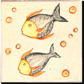 Carrelage d cor 11 x 11 poissons c motif design for Carreaux faience 11x11